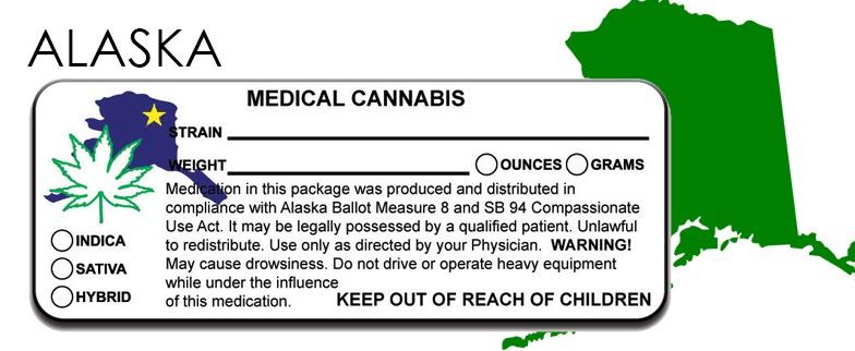 Alaska -State Law-Marijuana-Packaging
