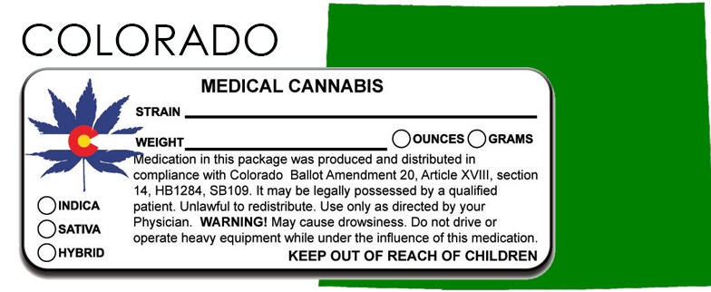 Colorado - State Law-Marijuana-Packaging