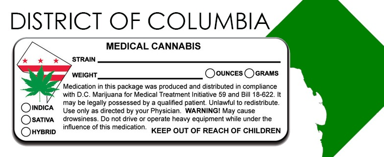District of Columbia - State Law-Marijuana-Packaging
