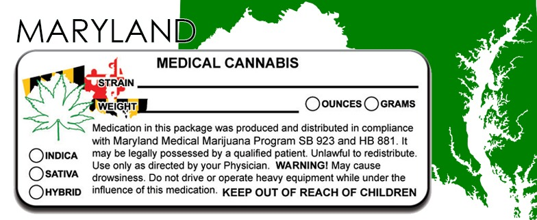 Maryland -State Law-Marijuana-Packaging