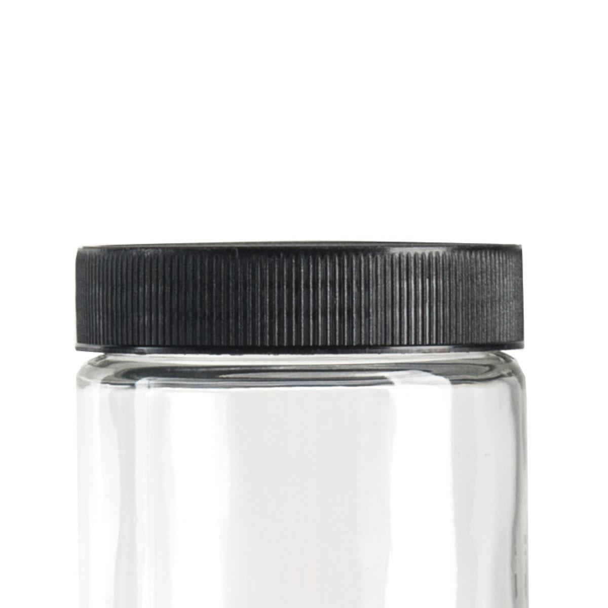 Black Lid For 10oz Standard Glass Jar (72 Qty.)