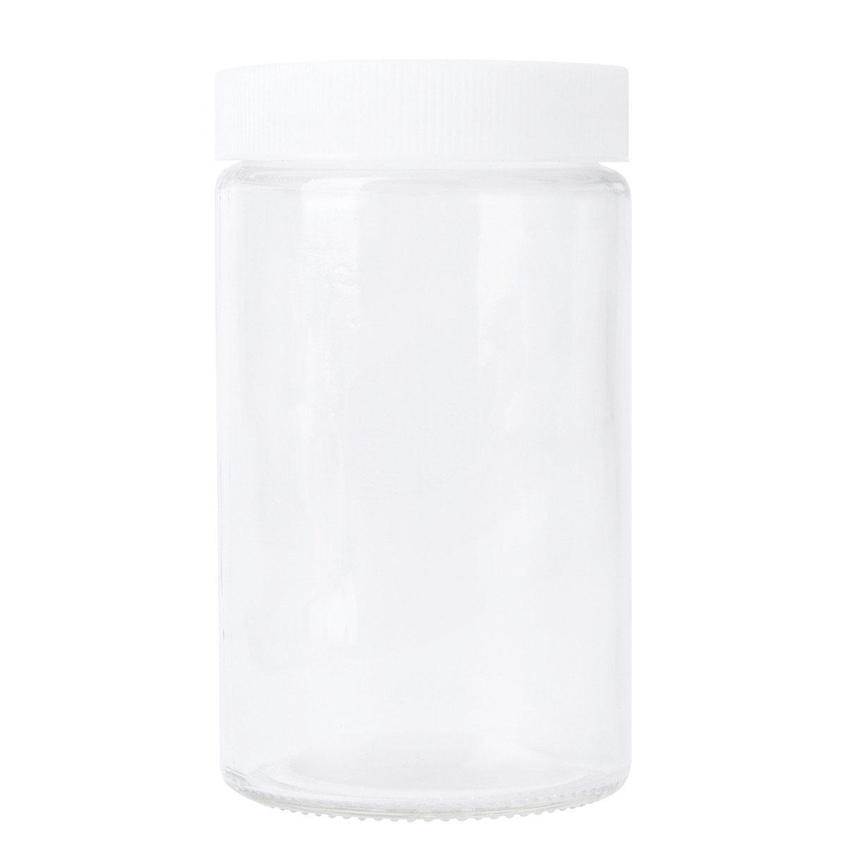 White Lid For 10oz Standard Glass Jar (72 Qty.)