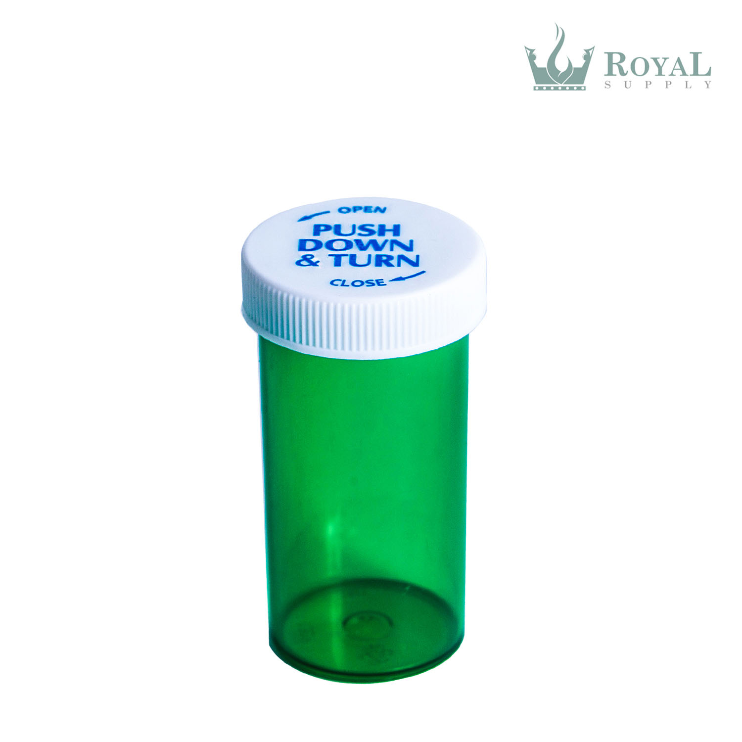 13 Dram High Quality Translucent Child Resistant Push and Turn Vials