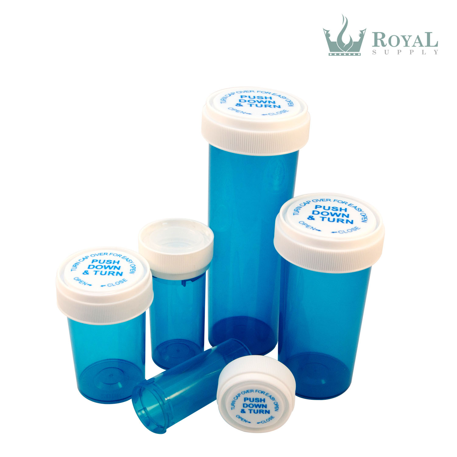 60 Dram High Quality Translucent Child Resistant Reversible Cap Vials