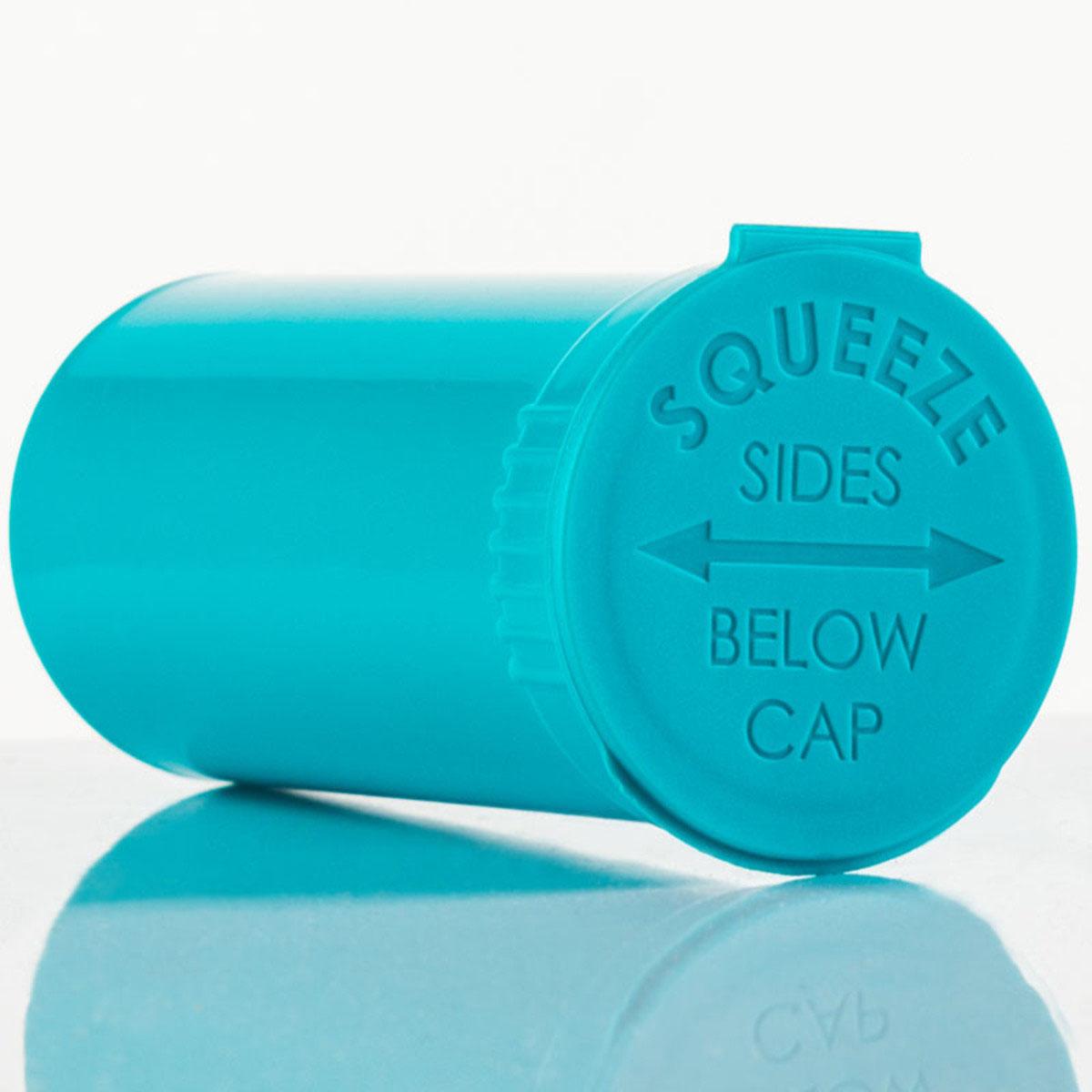 13 Dram Opaque Aqua Child Resistant Pop Top Bottles Big Box (630 Qty.)