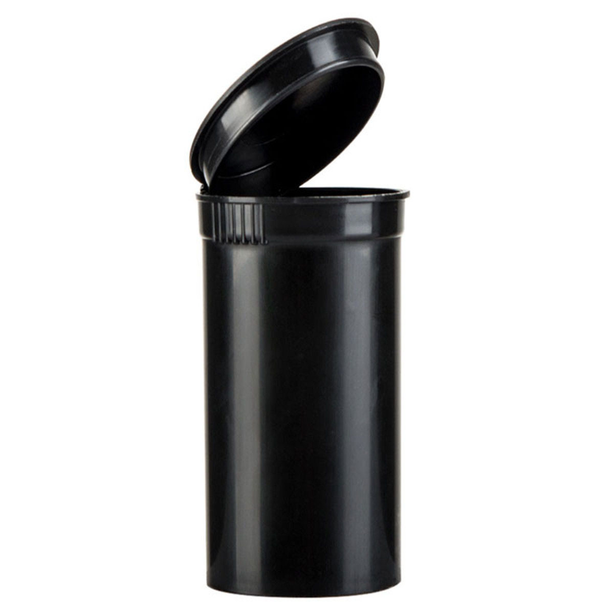 13 Dram Opaque Black Child Resistant Pop Top Bottles Big Box (630 Qty.)