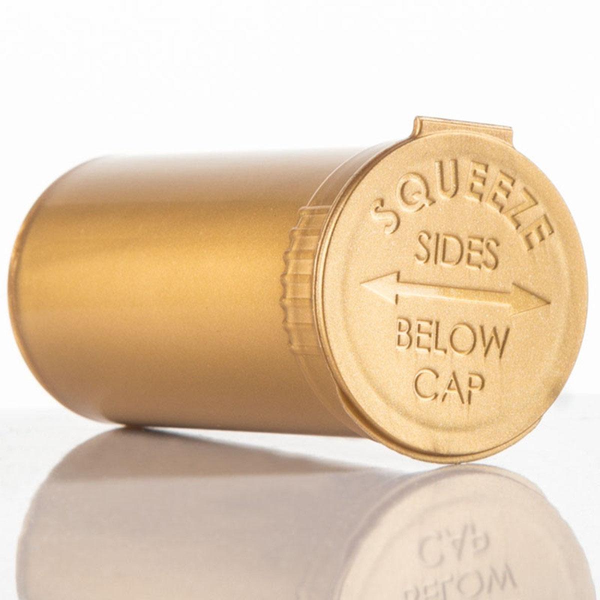 13 Dram Opaque Gold Child Resistant Pop Top Bottles Big Box (630 Qty.)