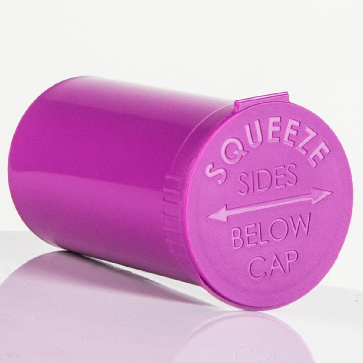 19 Dram Opaque Grape Child Resistant Pop Top Bottles Big Box (450 Qty.)