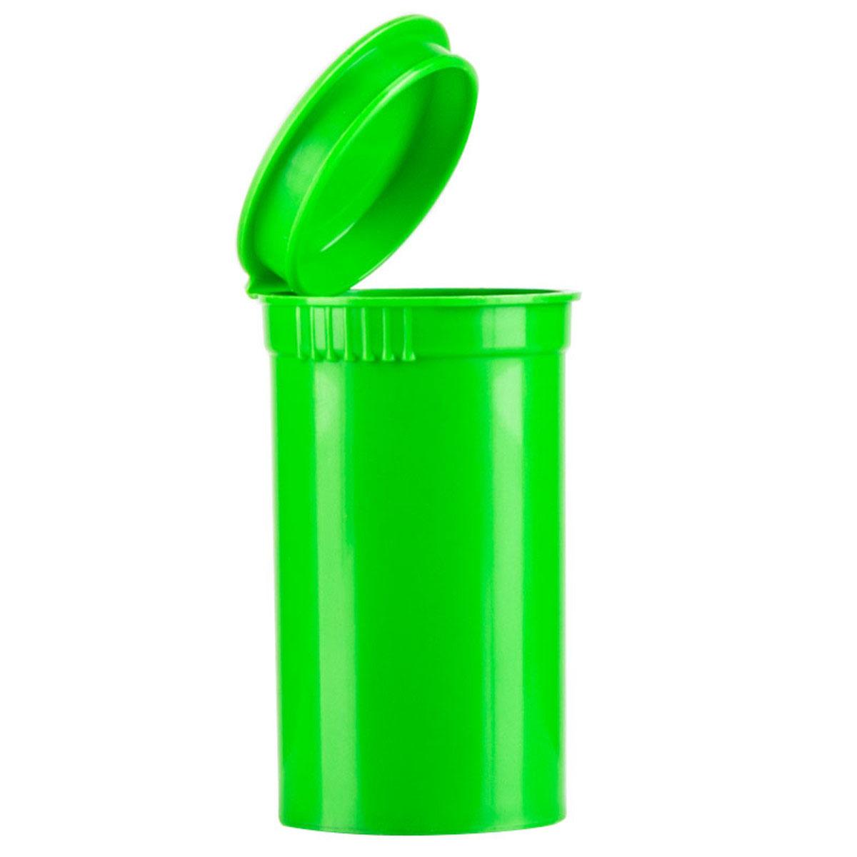 19 Dram Opaque Lime Child Resistant Pop Top Bottles Big Box (450 Qty.)