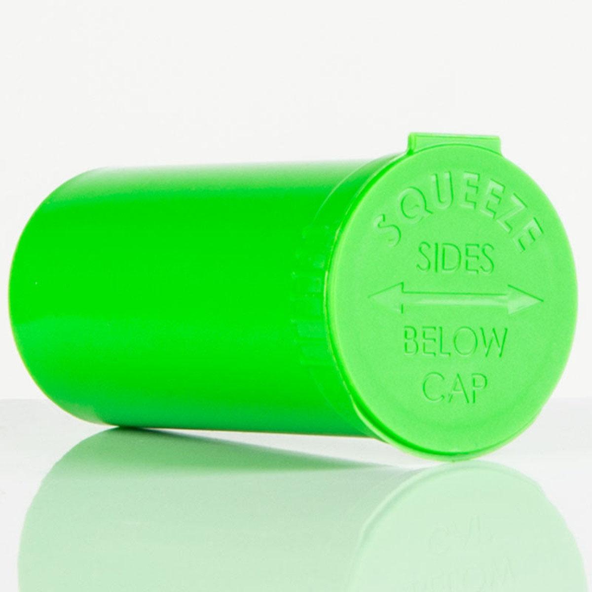 13 Dram Opaque Lime Child Resistant Pop Top Bottles Big Box (630 Qty.)