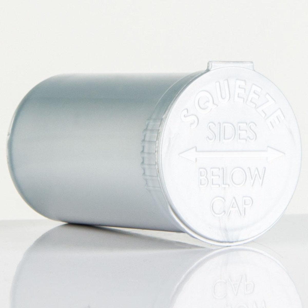19 Dram Opaque Silver Child Resistant Pop Top Bottles Big Box (450 Qty.)