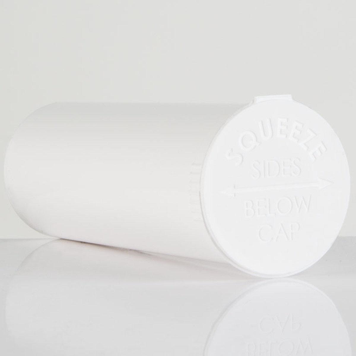 60 Dram Opaque White Child Resistant Pop Top Bottles Big Box (150 Qty.)