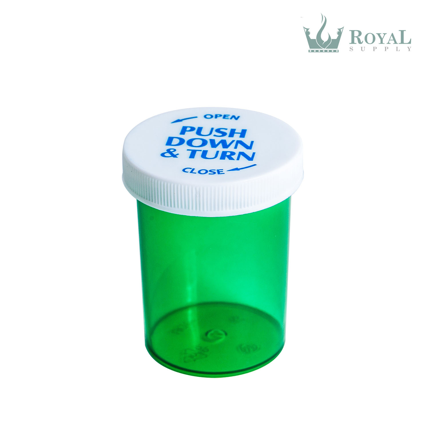 30 Dram High Quality Translucent Child Resistant Push and Turn Vials