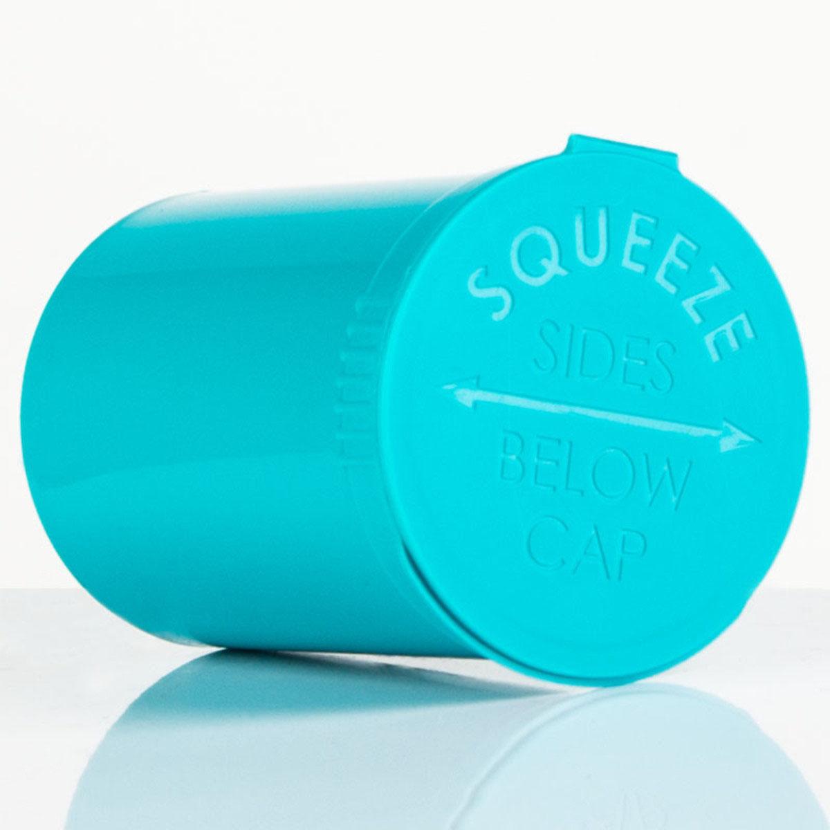 30 Dram Opaque Aqua Child Resistant Pop Top Bottles Big Box (300 Qty.)