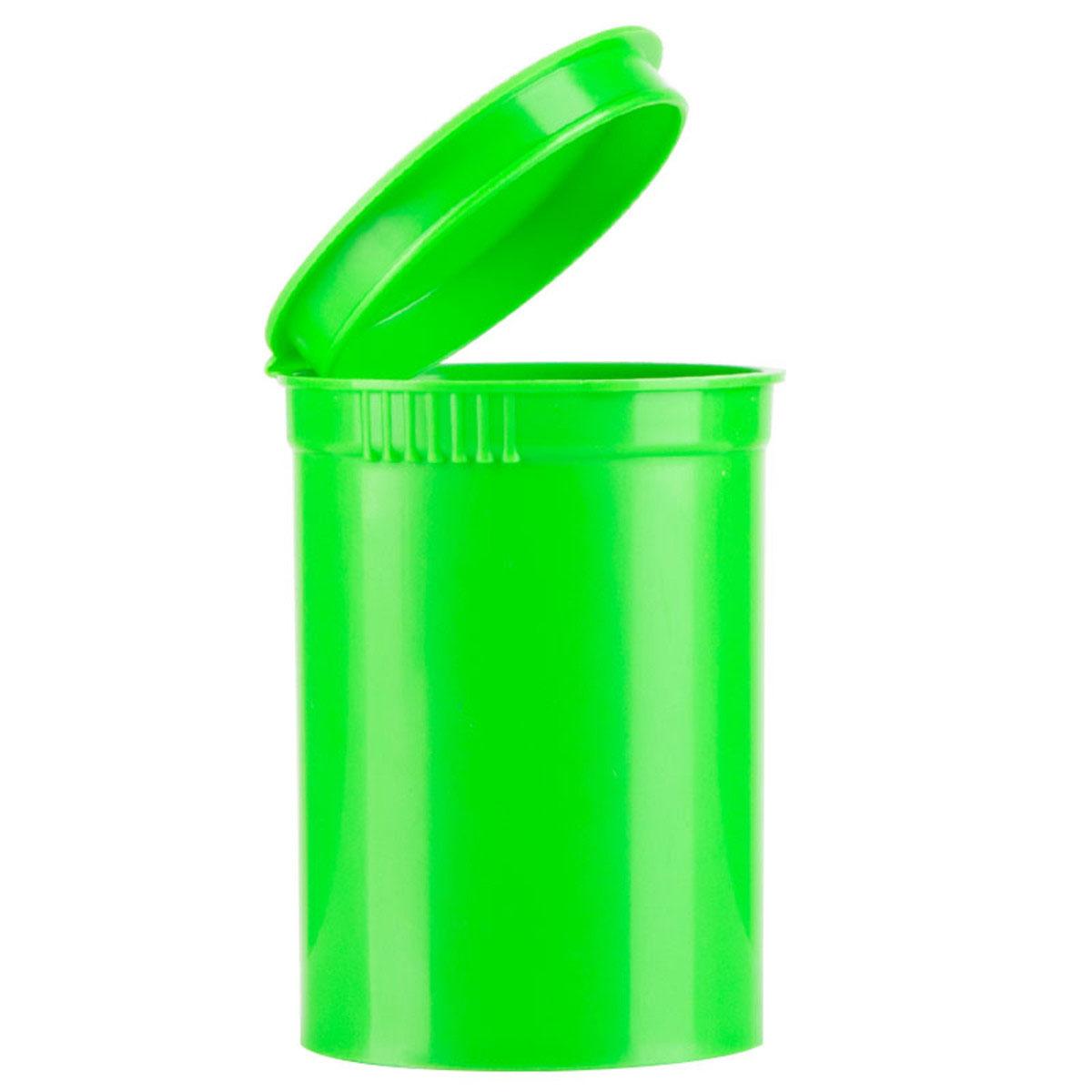 30 Dram Opaque Lime Child Resistant Pop Top Bottles Big Box (300 Qty.)