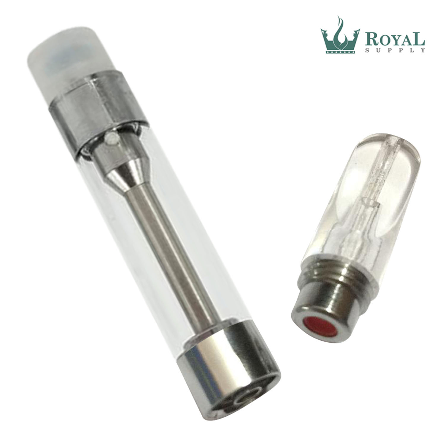 1 mL Clear Plastic Tip RS Ceramic Core Glass Vape Cartridge