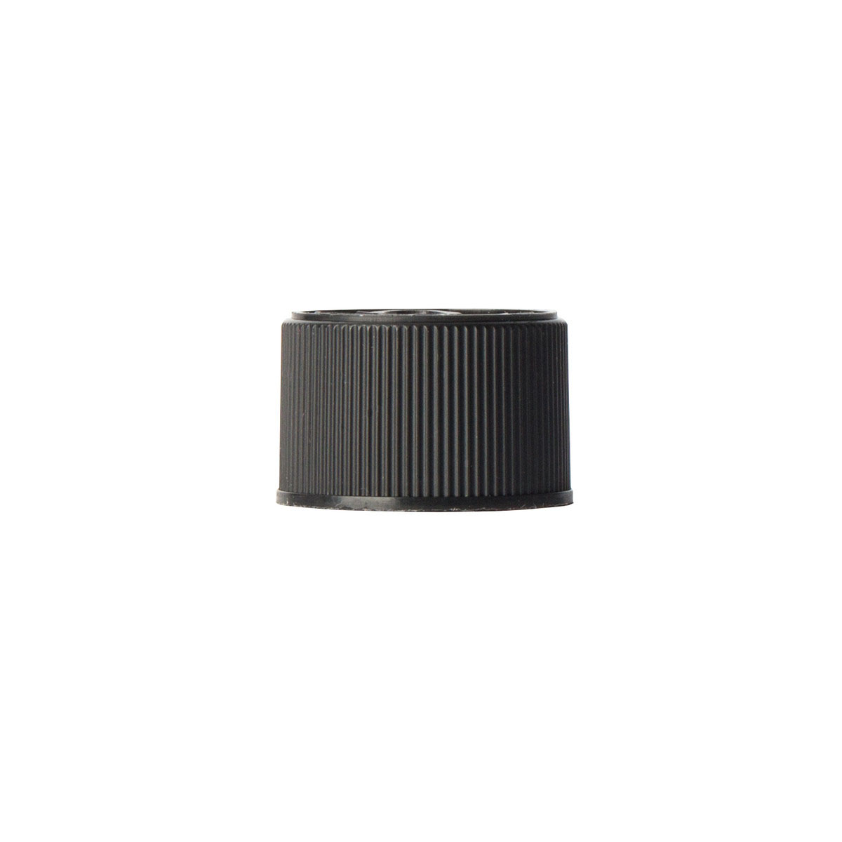 Child Resistant Black Lids For 116mm Glass Screw Top Pre-roll Tube (250 Qty.)