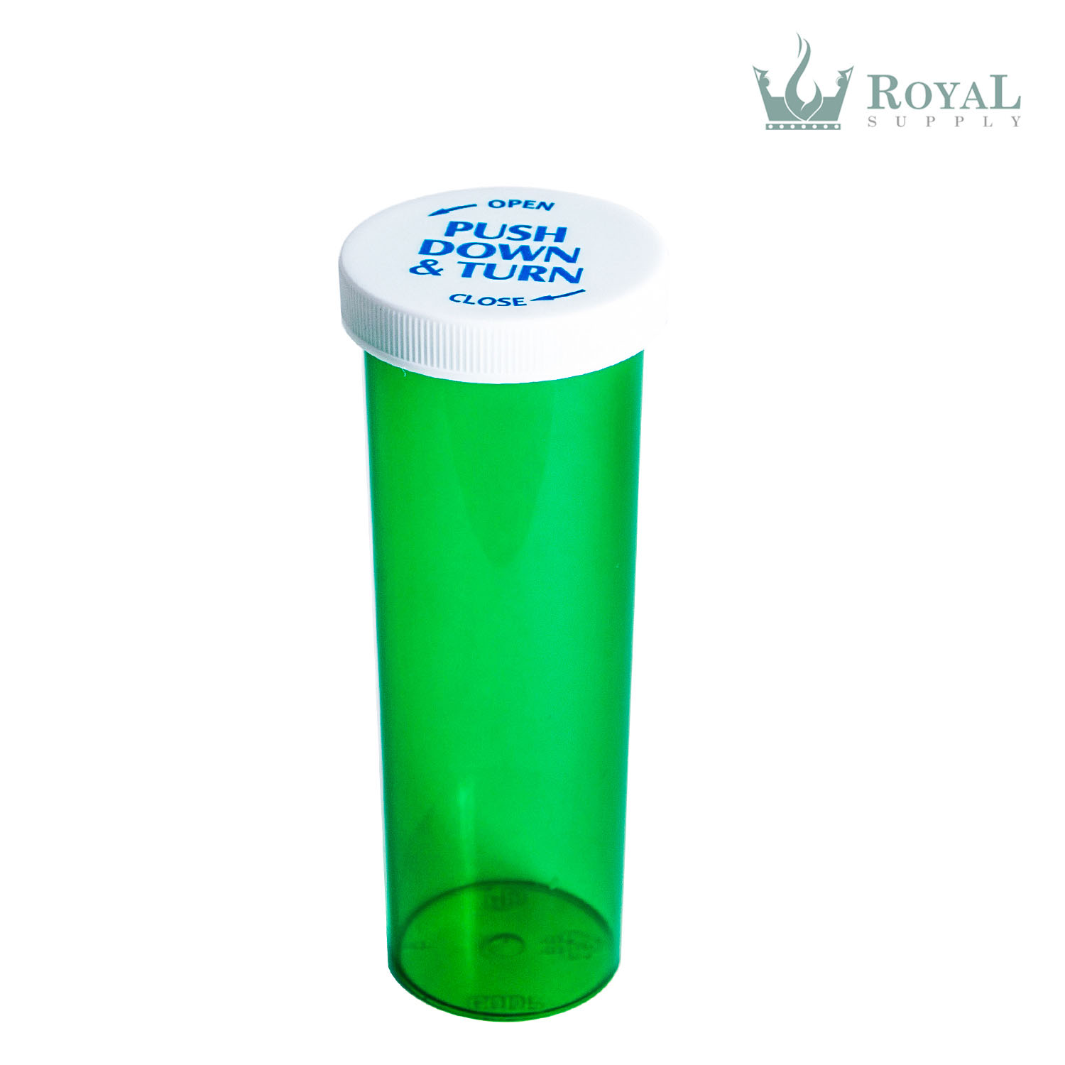 60 Dram High Quality Translucent Child Resistant Push and Turn Vials