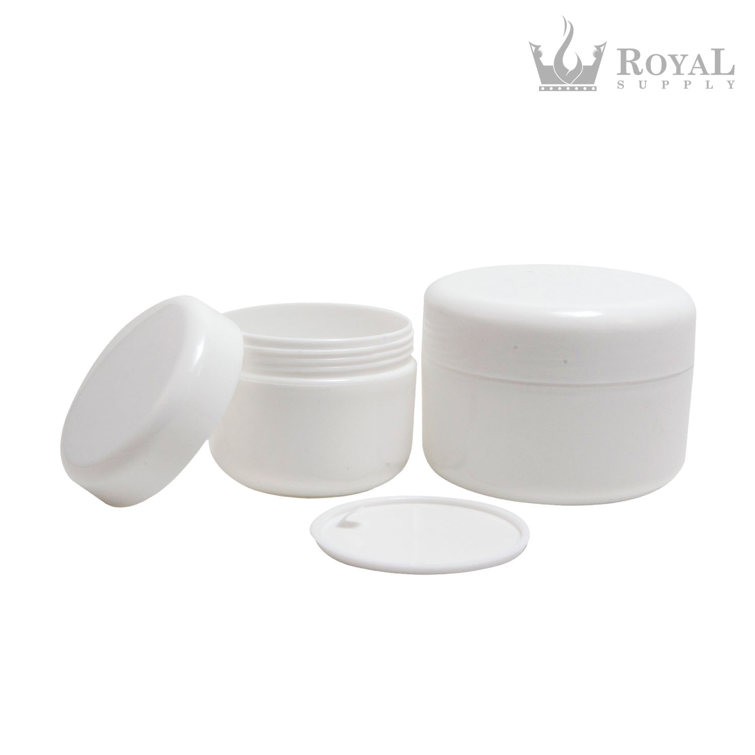 2oz Cosmetic Jars with Inner Liner and Dome Lids