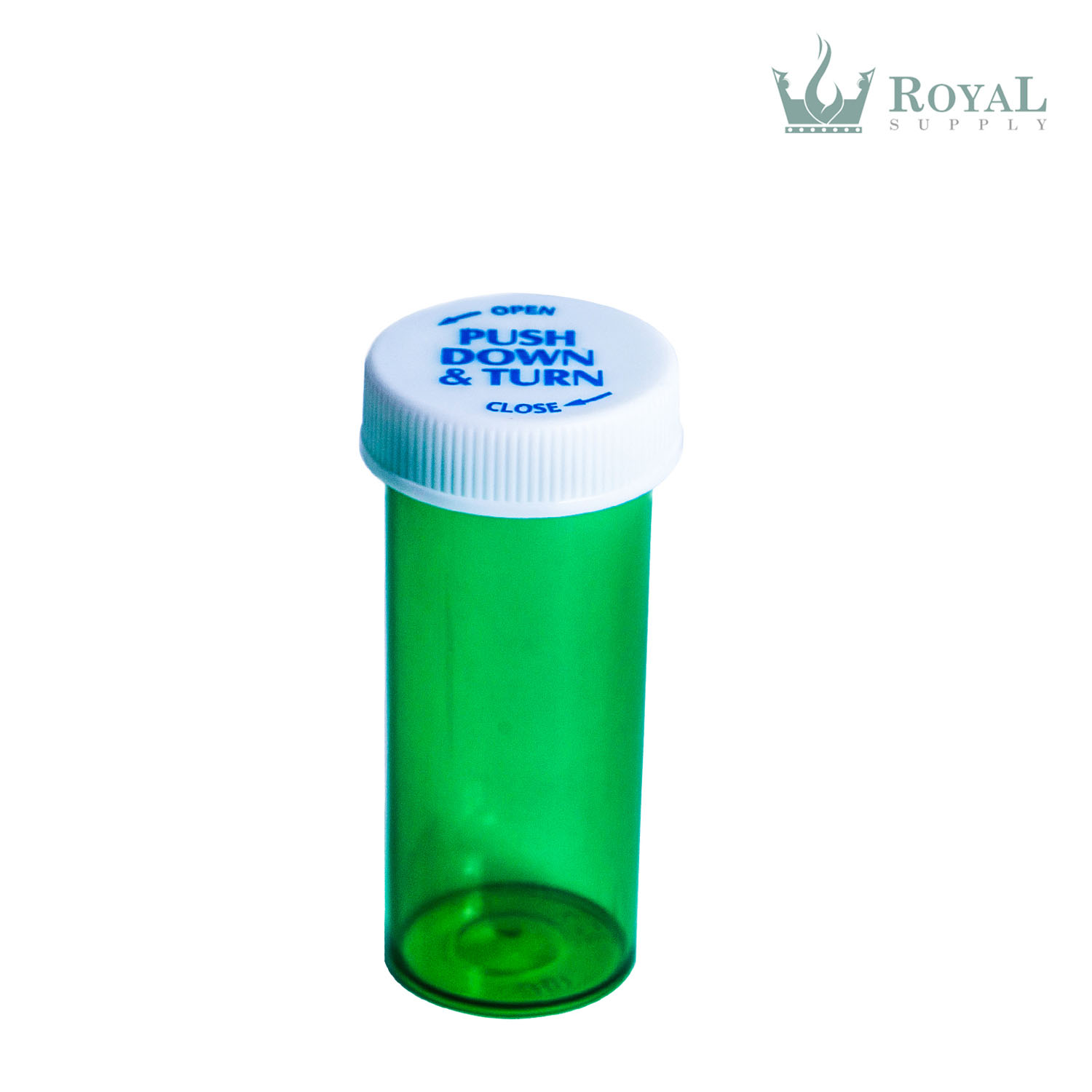 8 Dram High Quality Translucent Child Resistant Push and Turn Vials