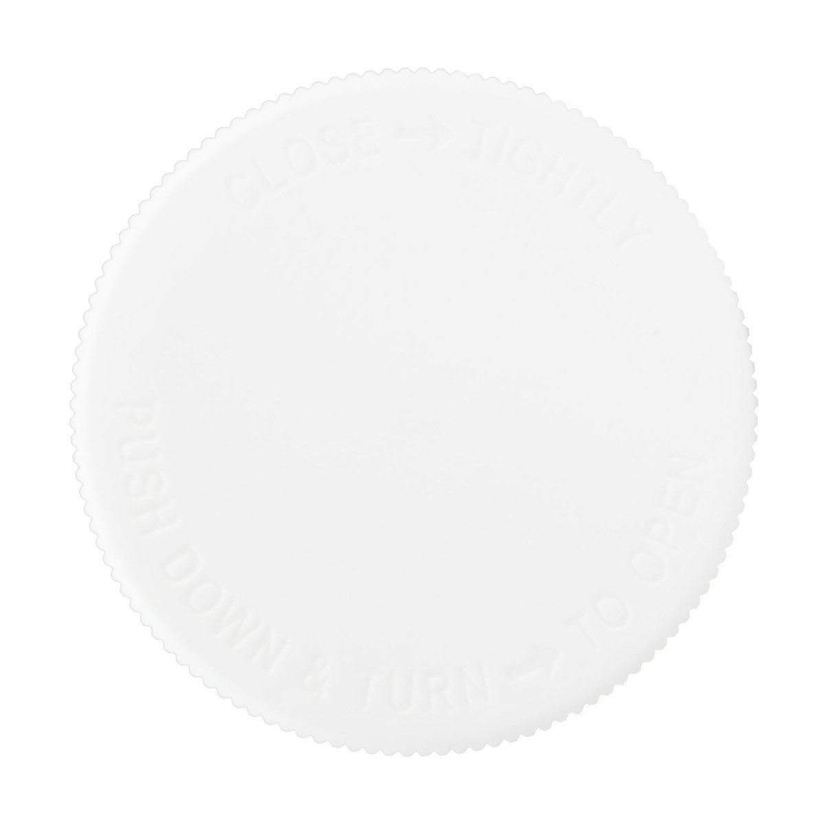 Child Resistant White Lid For 5oz & 10oz Glass Jar (100 Qty.)