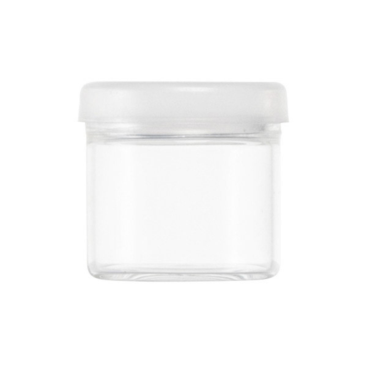 6ml Glass No Neck Concentrate Container Clear Silicone Cap (1008 Qty.)