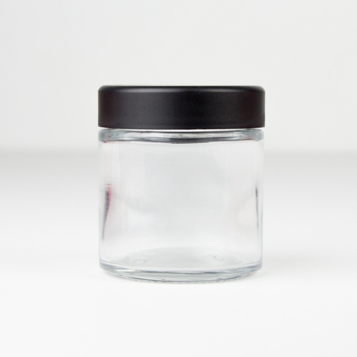 Child Resistant Black Lid For 3oz Premium Flush Glass Jar (108 Qty.)