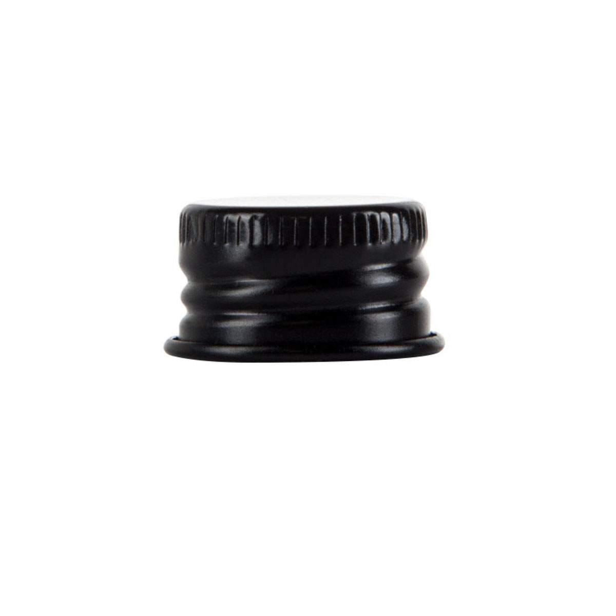 Cap For 116mm Screw Top Glass Pre-roll Tube Black (250 Qty.)