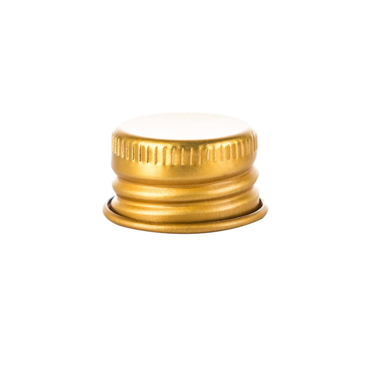 Cap For 116mm Screw Top Glass Pre-roll Tube Gold (250 Qty.)