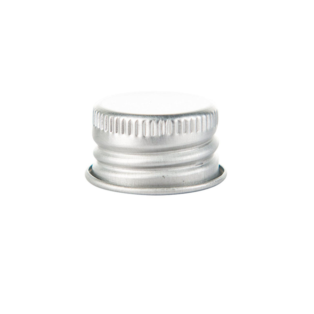 Cap For 116mm Screw Top Glass Pre-roll Tube Silver (250 Qty.)