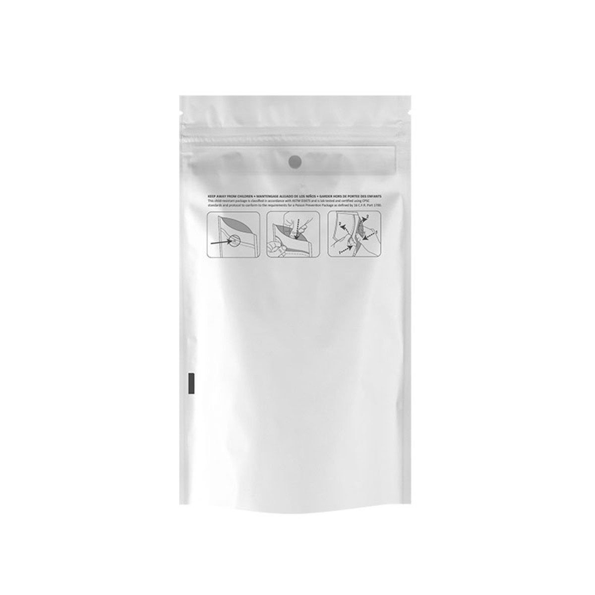 Quarter Ounce Dymapak™ Child Resistant Bag White/clear (1,000 Qty.)