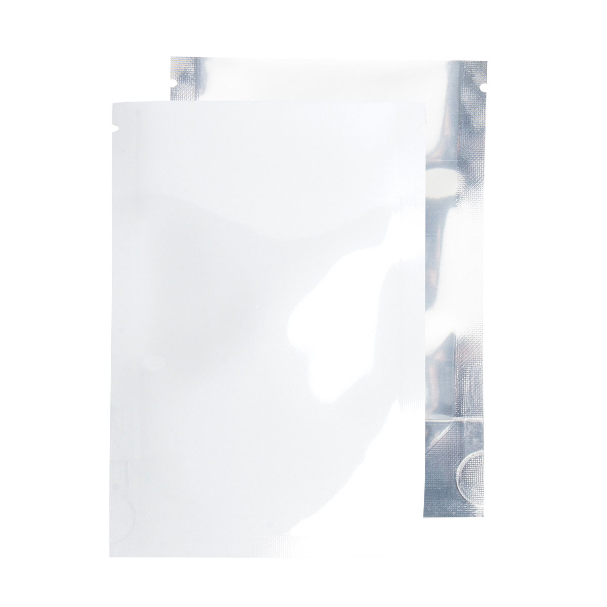 Eighth Ounce White/Clear Barrier Bags With No Zipper (100 Qty.)