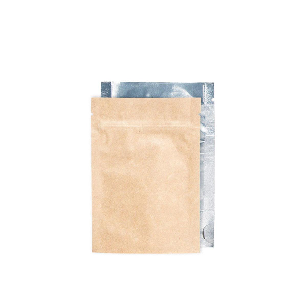 Eighth Ounce Kraft/clear Barrier Bags (100 Qty.)