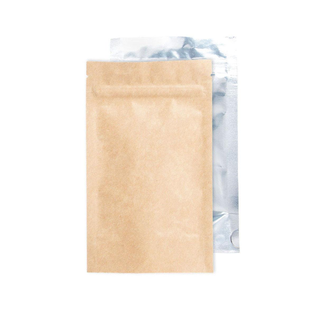 Quarter Ounce Kraft/clear Barrier Bags (100 Qty.)