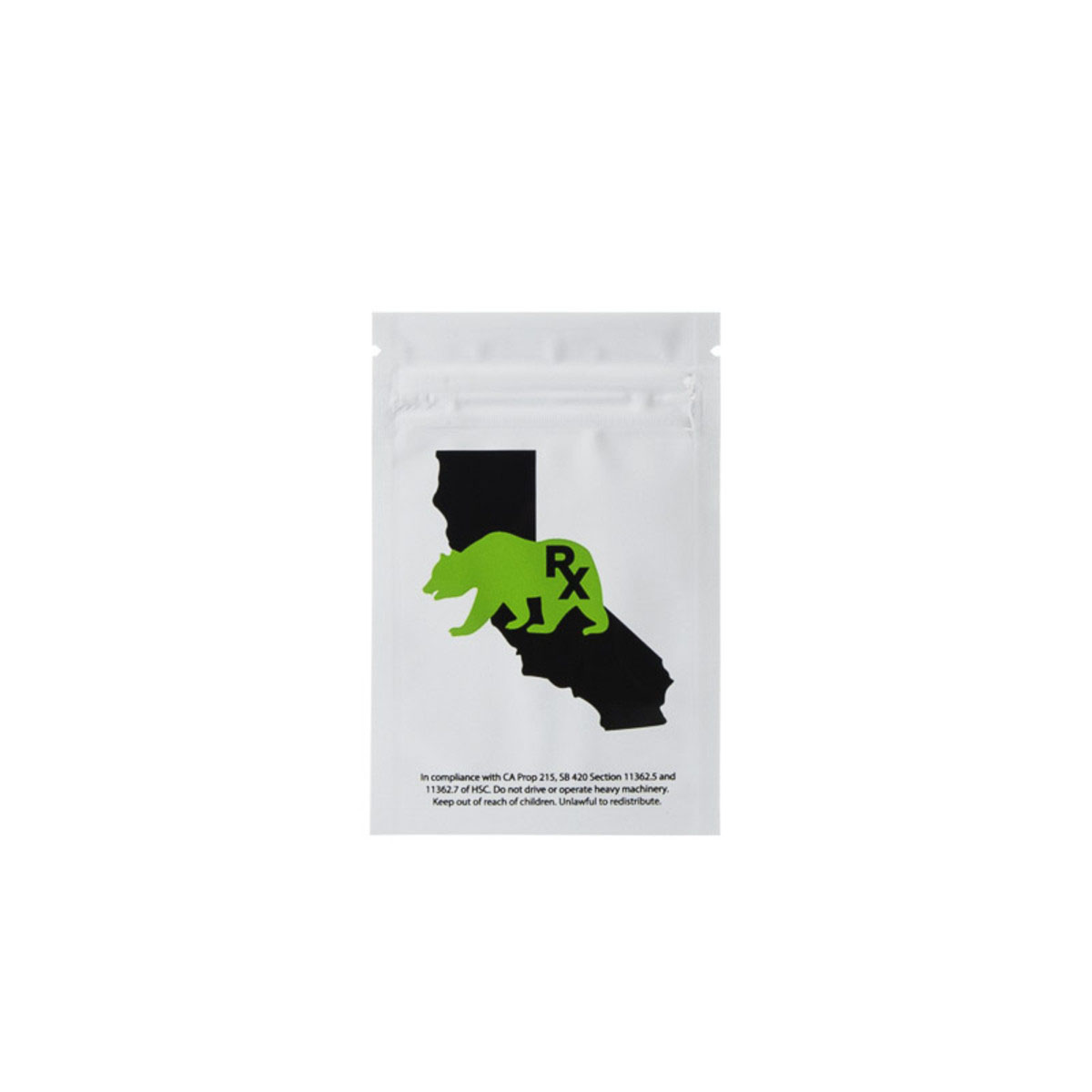 Gram Cali Bear White/clear Barrier Bags (100 Qty.)