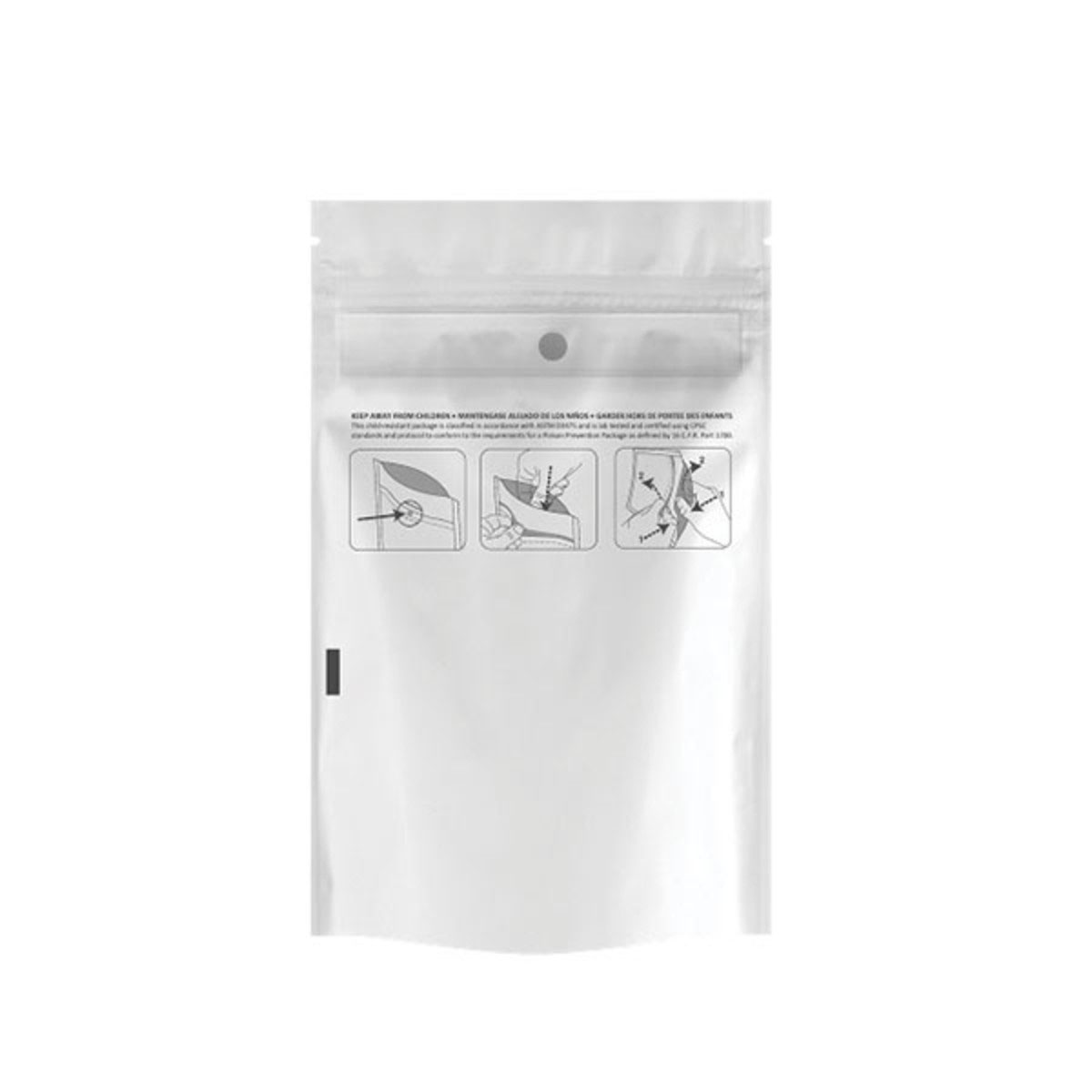 Eighth Ounce Dymapak™ Child Resistant Bag White/Clear (2,000 Qty.)