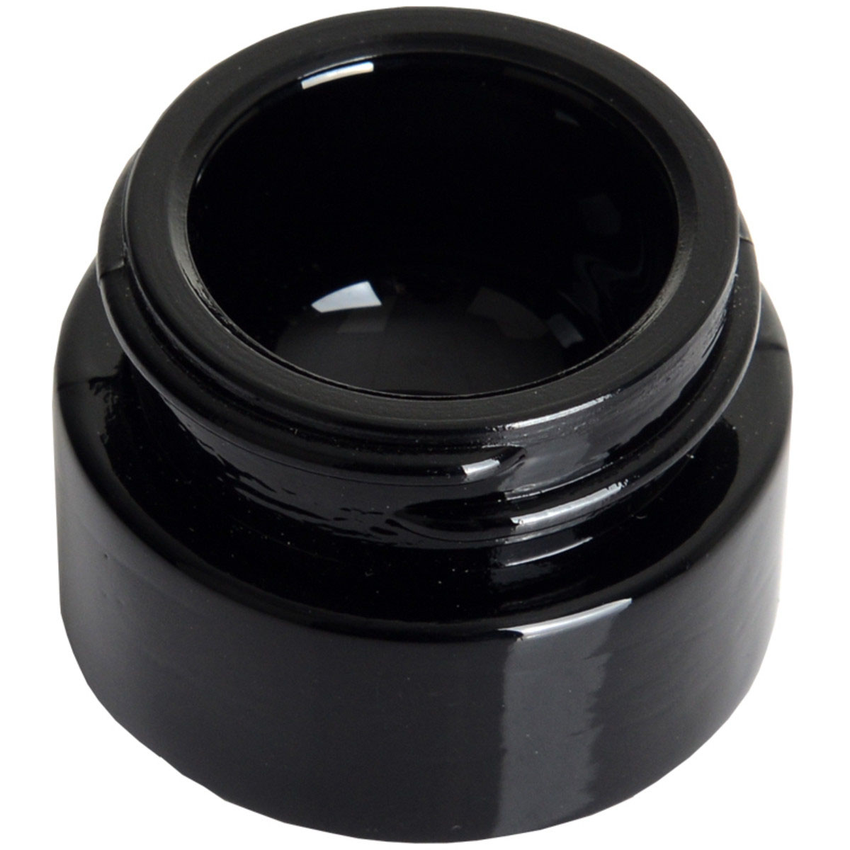 5ml Black Glass Concentrate Container Black Cap (300 Qty.)