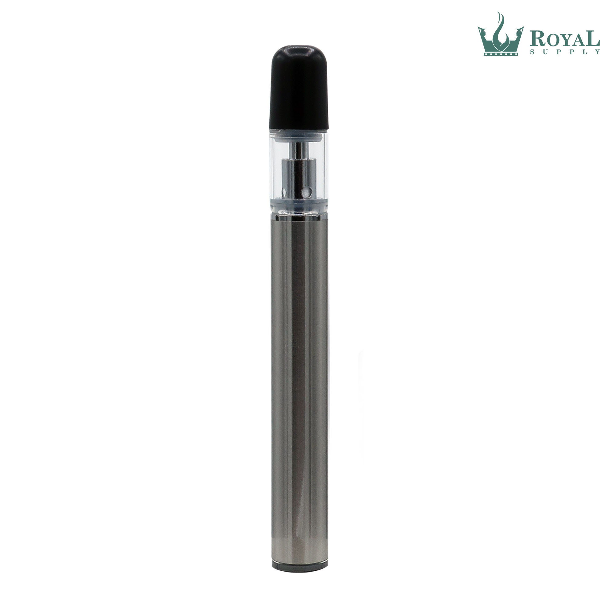 290 MAH STAINLESS STEEL DISPOSABLE WITH 0.3 ML CERAMIC CORE GLASS CARTRIDGE AND BULLET TIP