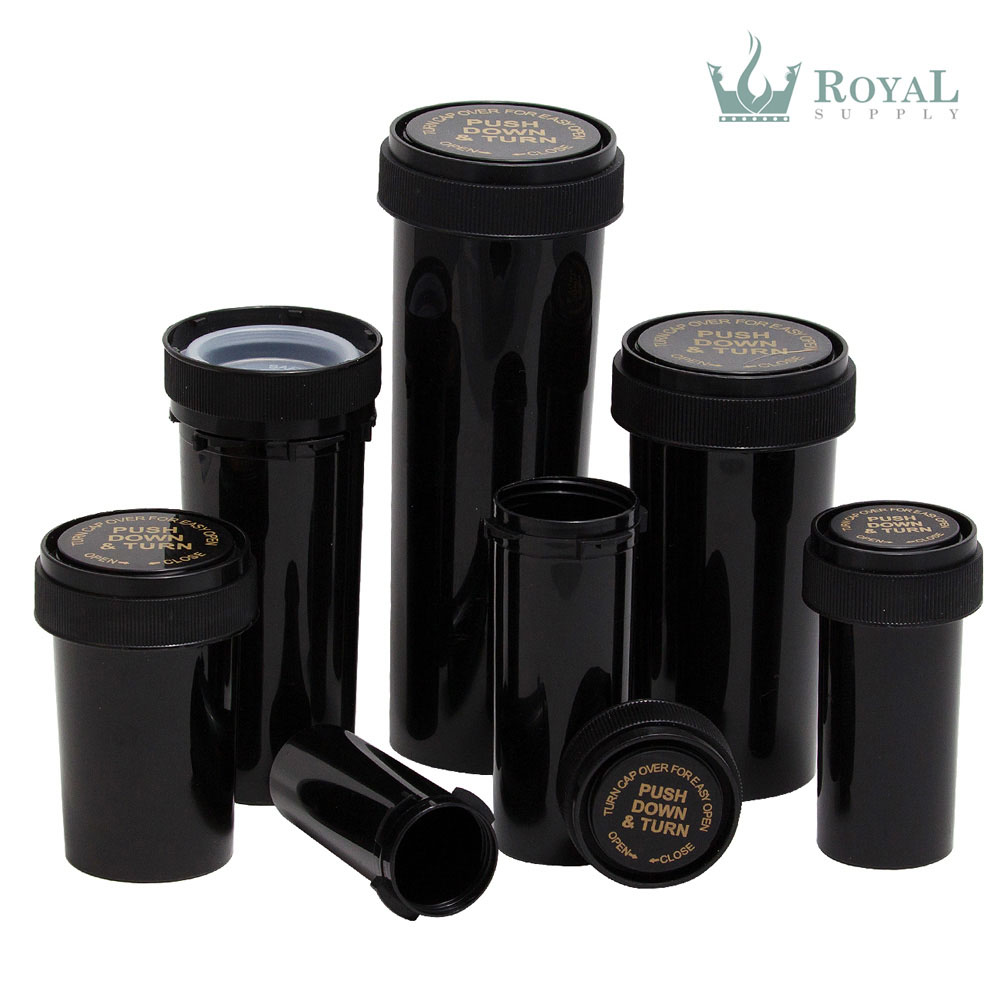 8 Dram High Quality Opaque Child Resistant Reversible Cap Vials