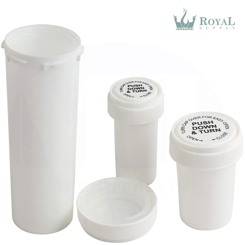 8 Dram High Quality Opaque Child Resistant Reversible Cap Vials