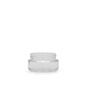 1OZ V2 FLUSH GLASS JAR (216 QTY)