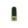 Flat Metal Vape Cartridge Mouthpiece, Gold