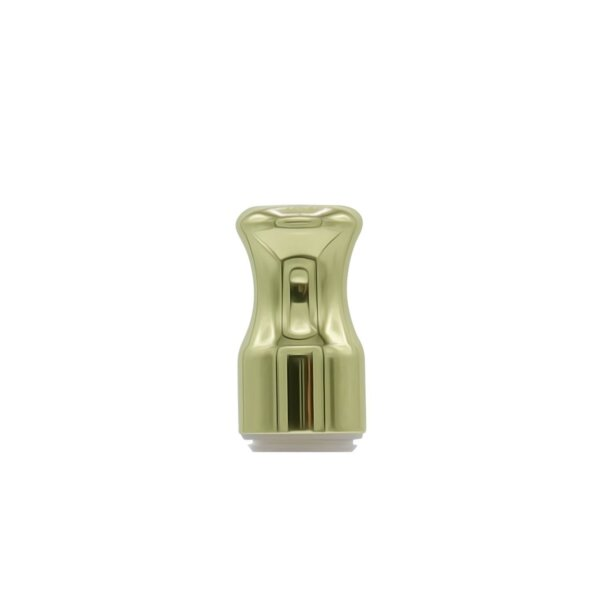Round Metal Vape Cartridge Mouthpiece, gold
