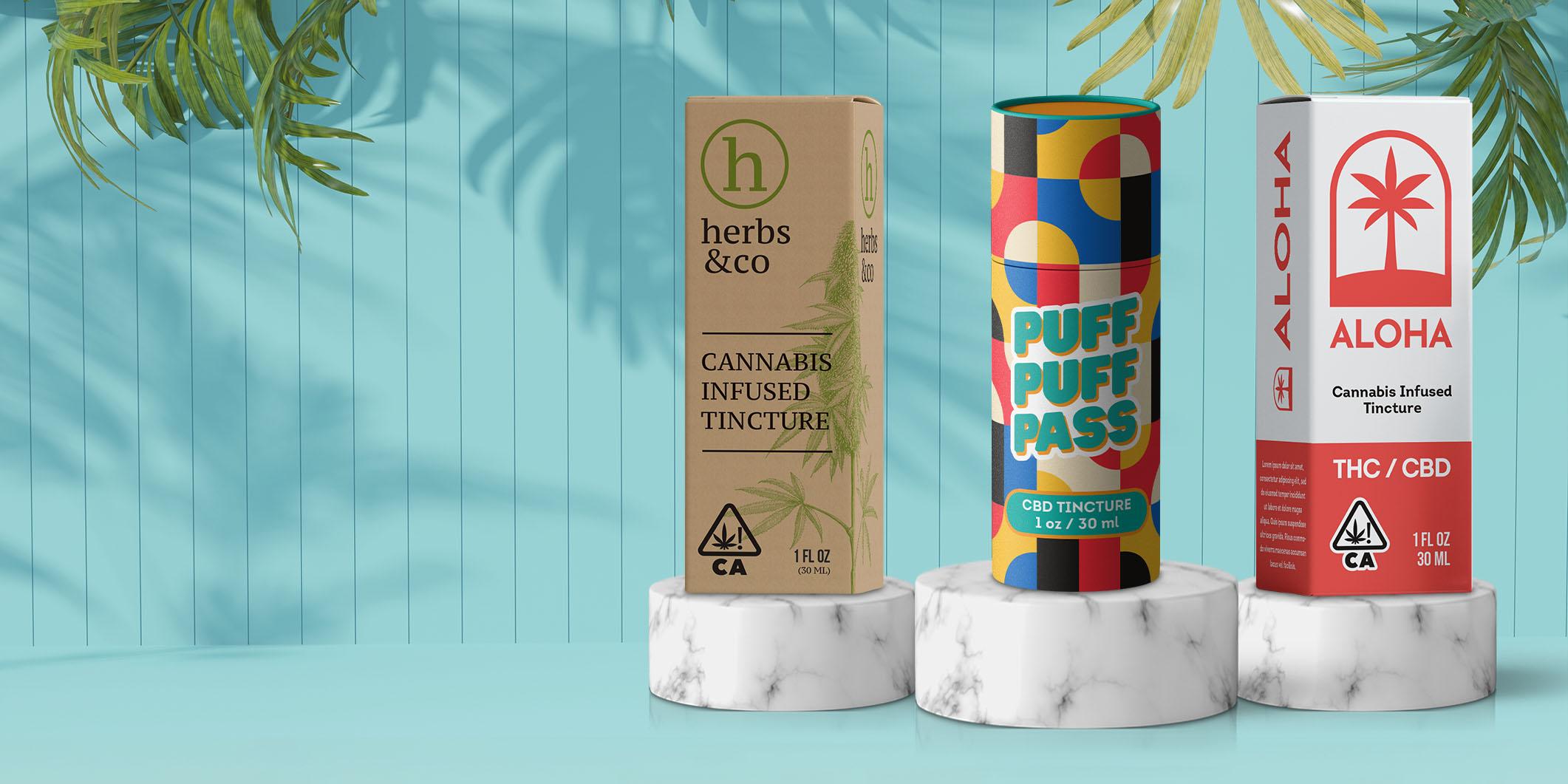 Custom Tincture Jar Packaging