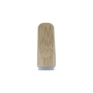 Flat Wooden Bamboo Vape Cartridge Mouthpiece Tip
