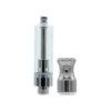 Round Metal Vape Cartridge Mouthpiece, Silver