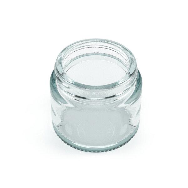 2oz Premium Flush Glass Jar